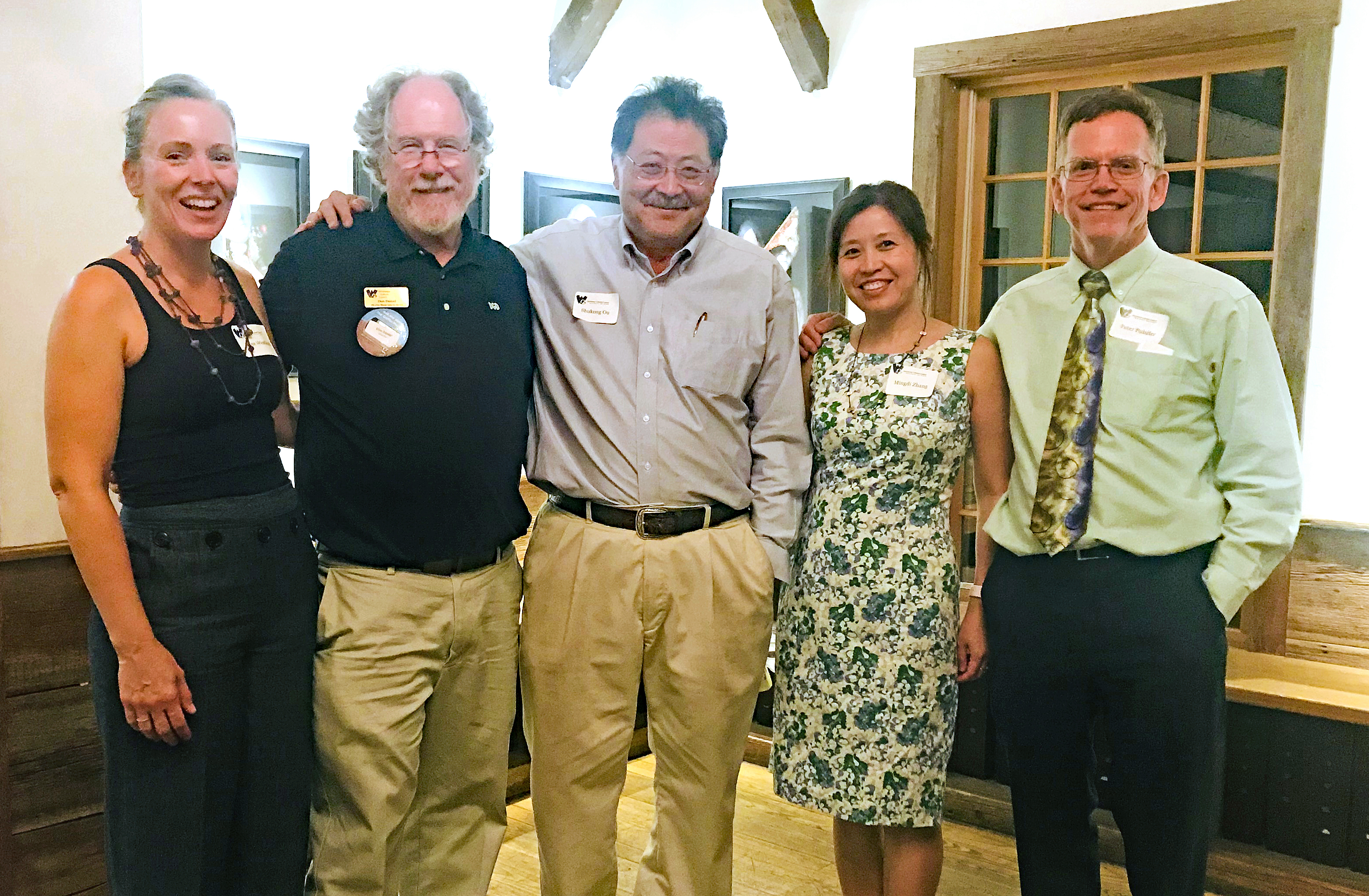 WCC members at Art in August reception 2018