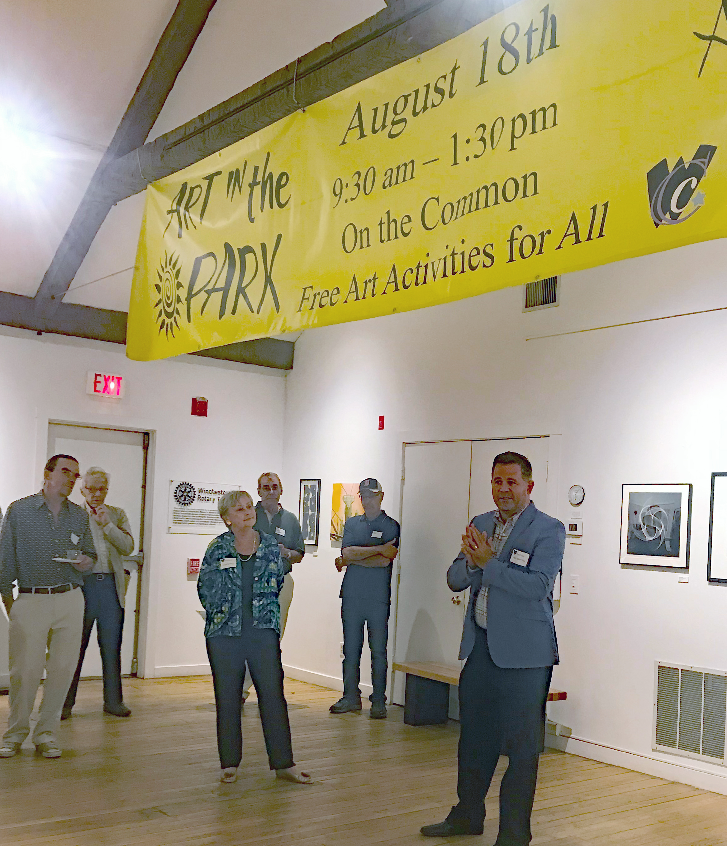 Banner at Art in August Reception