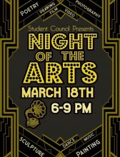 Night of the Arts 2019 flier