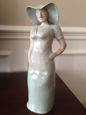 Ceramic figure of woman
