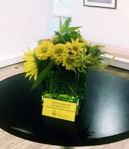 Flower arrangement from Wright-Locke Farm