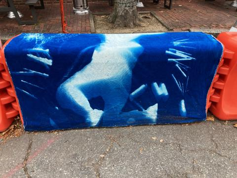 Cyanotype of body by Acera School students