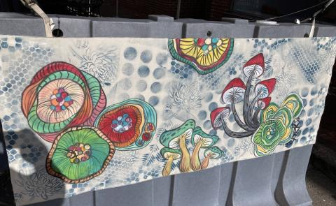 Streetscape art canvas by Jessica Clark