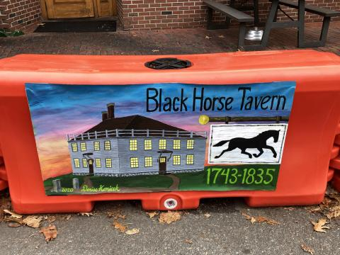 Black Horse Tavern painting by Denise Konicek