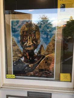 Art in August display window