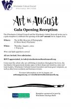 Art in August reception invitation
